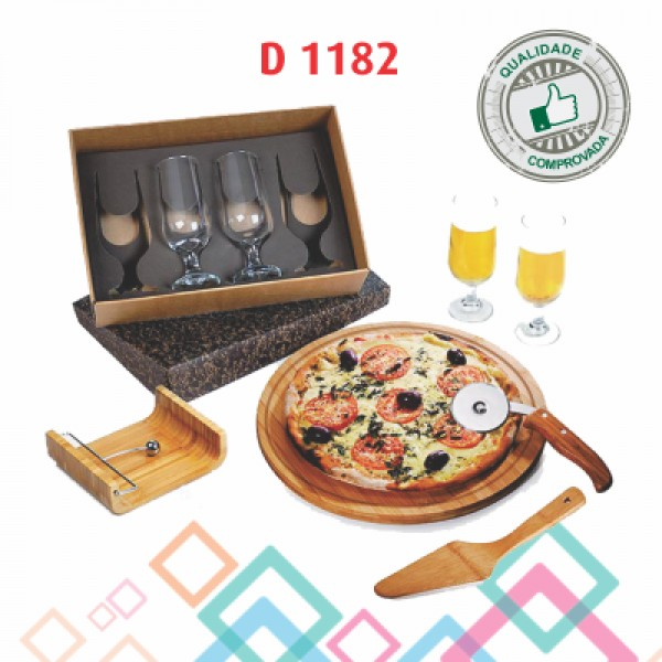 KIT PIZZA + TAÇAS DE CHOPP D 1182