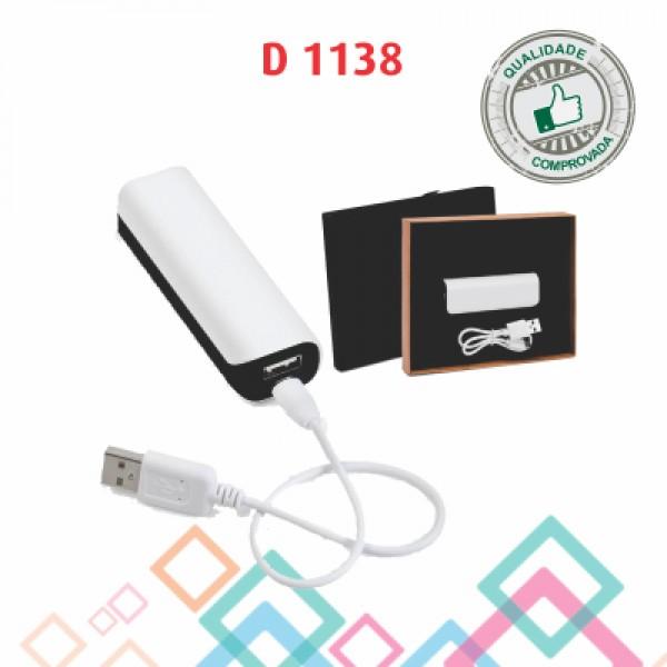 CARREGADOR PORTÁTIL USB D 1138